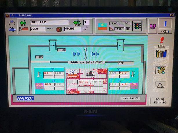 Sterowanie komputerowe Suszarni drewna Nardi 2 komory