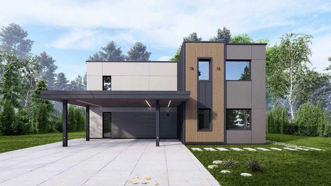 Новый кирпичный дом в стиле HI-TECH в КГ Севериновка!