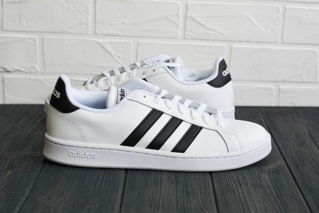 Мужские кроссовки Кожа Оригинал Adidas Grand Court F36392 Тennis