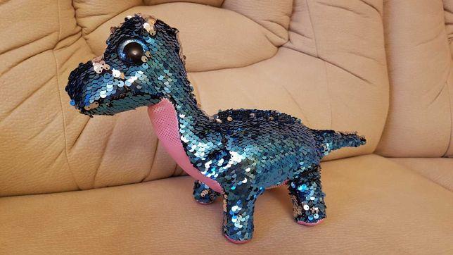 Ty beanie flippables глазастик динозавр блестящий перевертыши 34х23 см