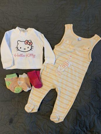 Теплый набор для младенца кофточка ползунки