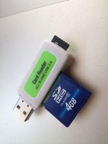 CZYTNIK USB wielu typów KART pamięci: karta MicroSD, SD, SDHC, M2 itp.