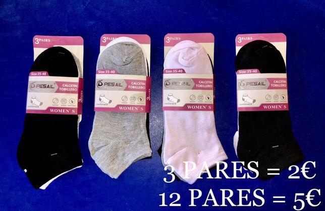 Soquetes de Senhora/Homem (12 pares = 5€)