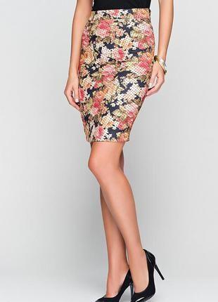 Цветочная юбка bonova с плотной ткани