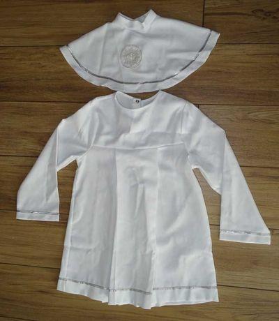 Alba komunijna chłopięca biała - stan idealny