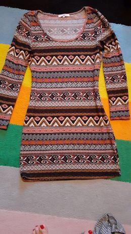 Sukienka New Look boho aztec stan idealny r.M/L