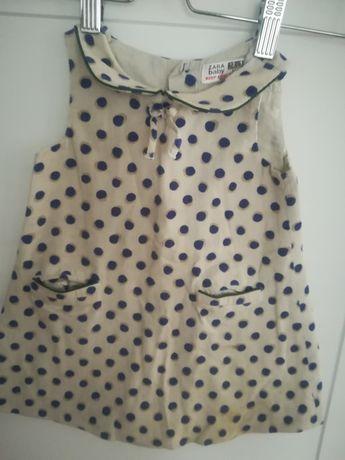 Sukienka sukieneczka w grochy Zara r. 12-18miesiecy