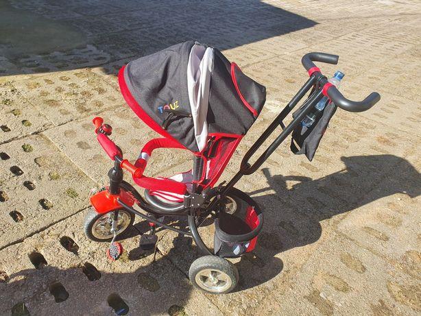Rowerek 3 kołowy 3w1 czerwony