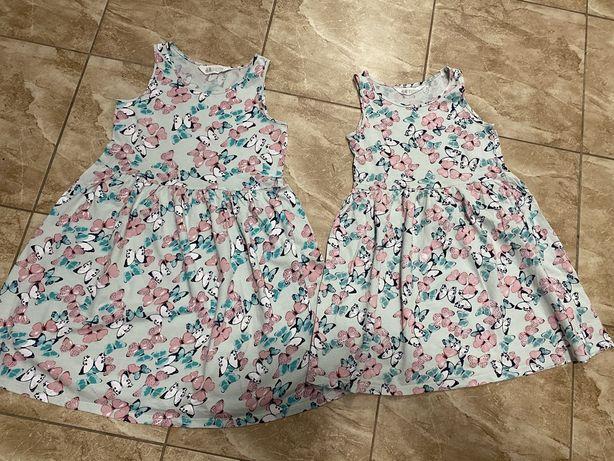 Sukienki H&M r.122/128  lub 134/140