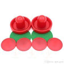 Шайбы и клюшки для аэрохоккея (воздушного хокея) набором