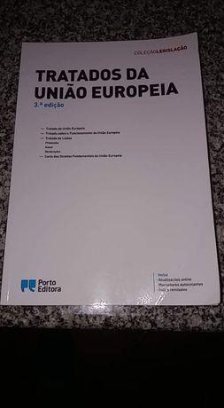 """Vendo livro """"Tratados da União Europeia"""" da Porto Editora"""
