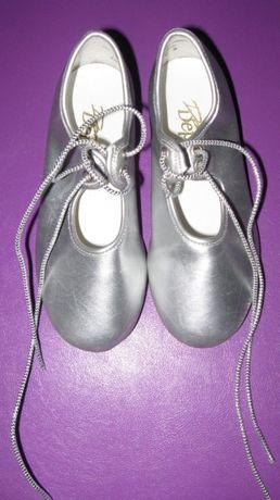 Туфли для танцев, степовки Dance Depot (Таиланд) серебристые