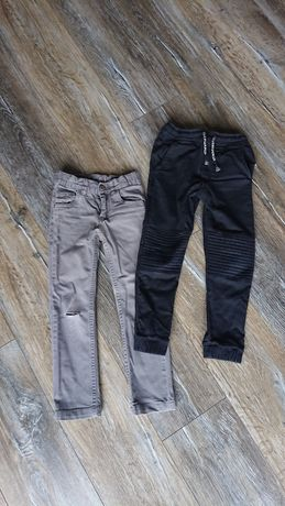 Spodnie ZARA + KappAhl rozm. 116, dla chłopca, 2 pary