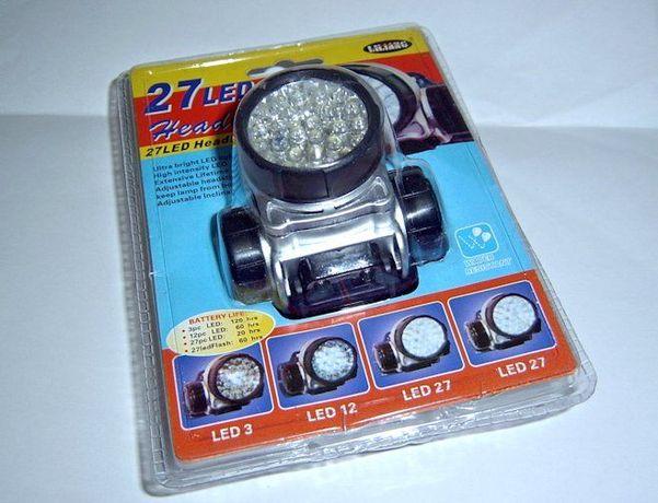 Lanterna de Cabeça 27 LEDS