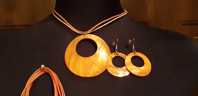 Biżuteria pomarańczowa kolczyki przewieszka