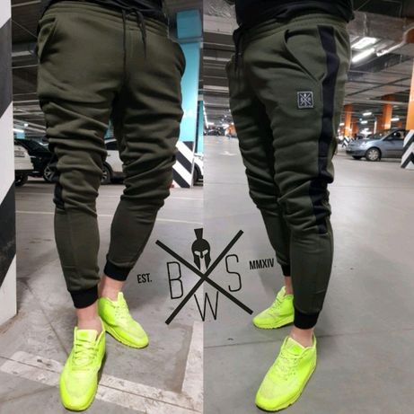 Теплые мужские спортивные штаны зимние утепленные на байке