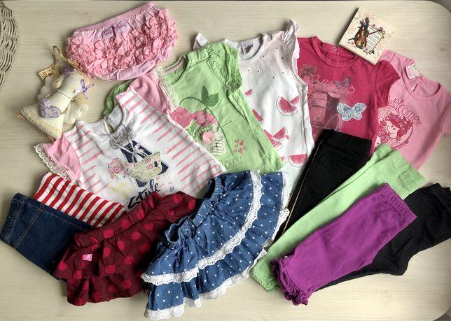 Пакет летних вещей для девочки 6-12 мес.