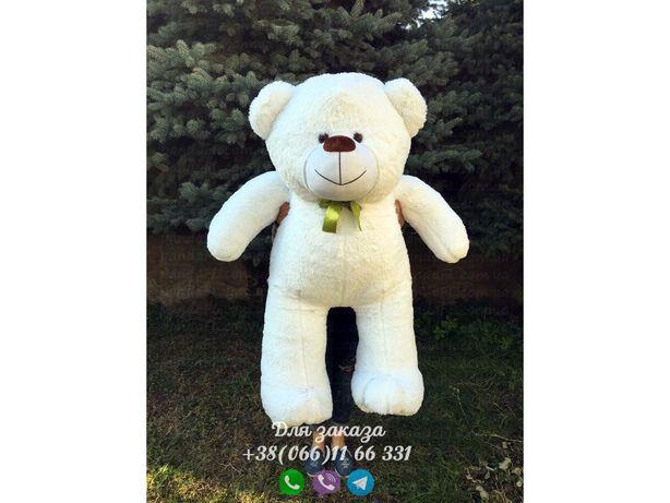 Плюшевый мишка белый 160 см.Мягкая игрушка.Купить мишку.Медведь