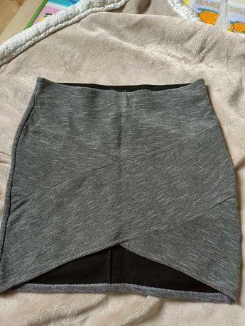 Spódnica szara, Bershka, rozmiar L