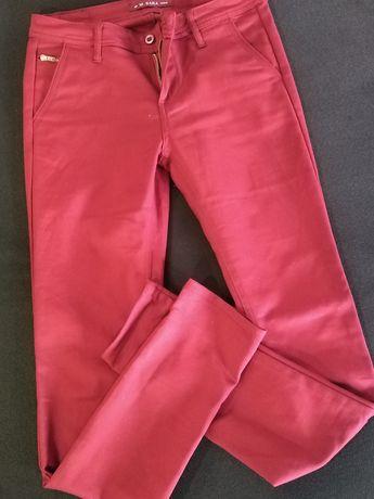 Spodnie damskie eleganckie bordo roz. 26, S