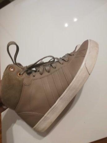 Buty zimowe Adidas roz 37 beż ocieplane