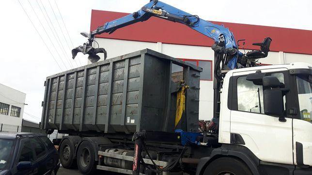 Limpeza corte árvores, transporte máquinas, levantamento sucata