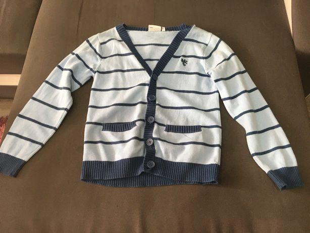 Niebieski sweter chłopięcy rozmiar 110-116