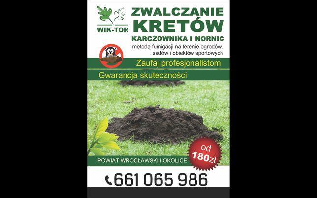 Zwalczanie kretów! Wrocław i okolice, GWARANCJA skuteczności