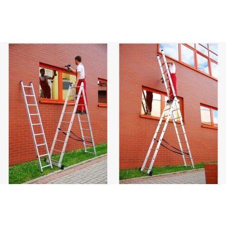Лестница Драбина розкладна 7.1м Стемянка Польша Нова 3секції Сходи