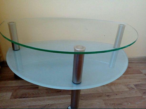 Столик журнальний склянний