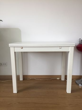 Mesa cozinha extensível branca