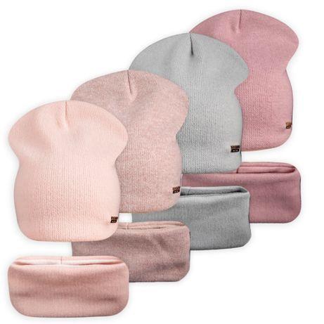 Комплект шапка с хомутом на флисе Нежность ог. 54-56см