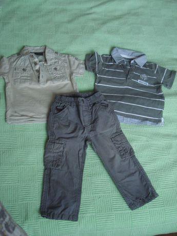 Набор одежды на мальчика, футболка-поло, легкие брюки, 80-86 см