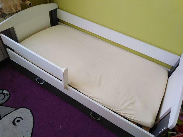 Łóżko dziecięce białe z szarym