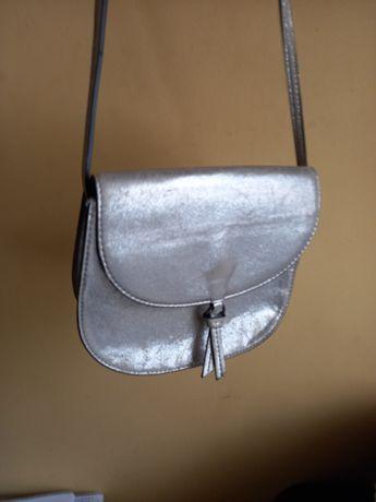 Torebka mała-złota i srebrna