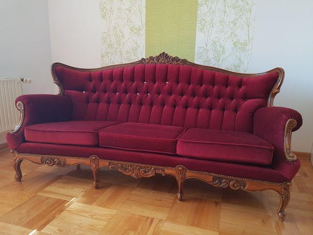 Sofa 2 fotele i stolik.