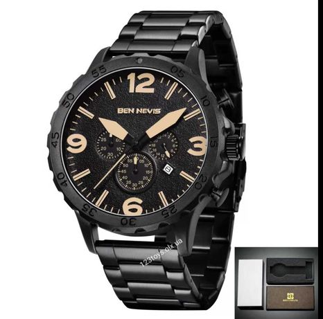 Стильные мужские часы Ben Nevis с большим циферблатом.Отличный подарок