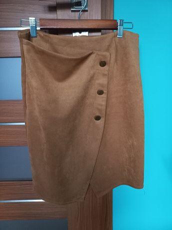 Asymetryczna spódnica camel