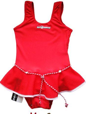Śliczny czerwony strój kąpielowy dla dziewczynki 116 122