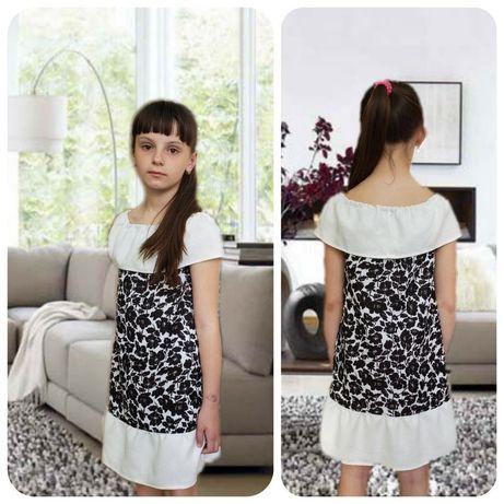 Летние детские и подростковые платья, размеры 122-146 см
