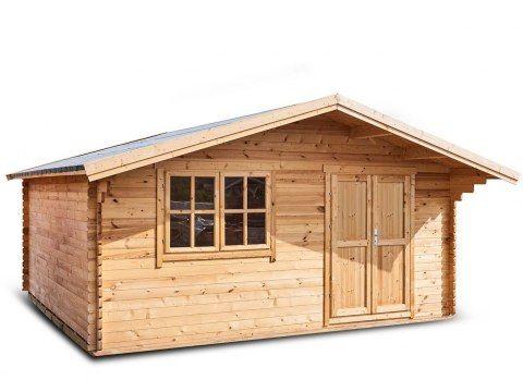 Domek drewniany ogrodowy Altana Jeremi 400x400cm deska 35mm z podłoga