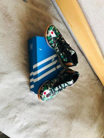 Новые кроссовки Adidas x Bape Dame 4 Camo Green