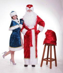 Костюм Деда Мороза и Снегурочки. Новогодний костюм.