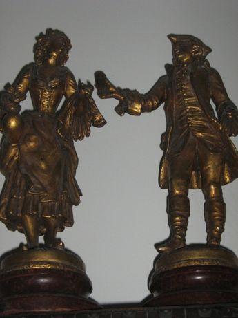 Par Esculturas em bronze Século XIX - Ferville - Suan