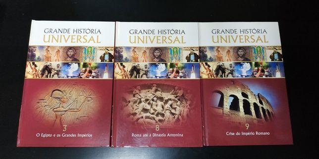 3 volumes da Grande História Universal