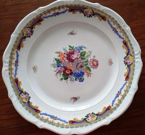 Porcelana Limoges, prato pintado à mão - NOVO