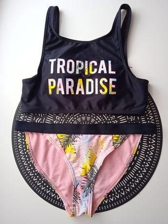 Strój kąpielowy Sinsay tropical paradise S 36 figi stringi top bikini