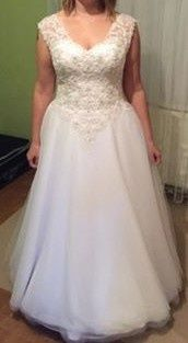 Sukienka ślubna Agnes rozm. 40-42 wiązana na plecach