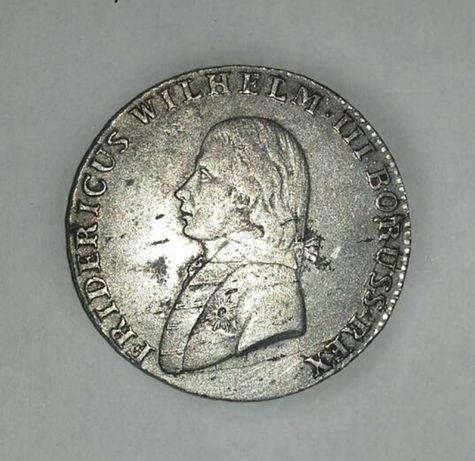 МОНЕТА - PRUSSIA 1/6 Thaler (4 Groschen) Frédéric-Guillaume III 1804