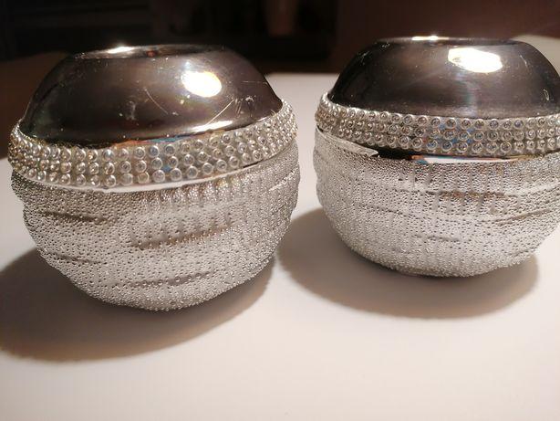 Świeczniki srebrne